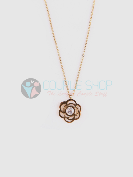Kalung Single Gold Plated Kode 703