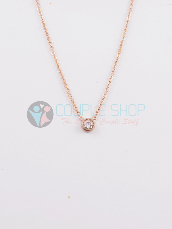Kalung Single Gold Plated Kode 748