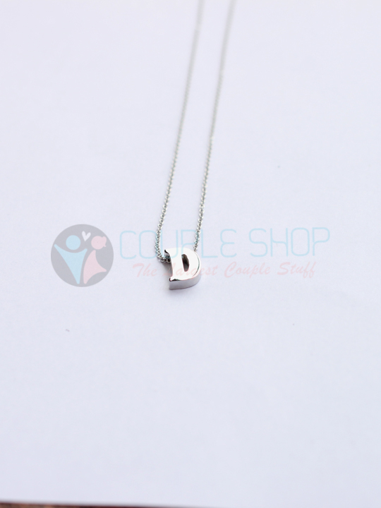 Kalung Single Abjad D