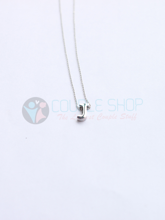 Kalung Single Abjad J