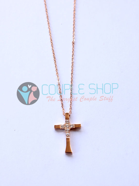 Kalung Single Gold Plated Kode 787