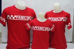 baju couple Family berwarna Merah