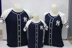 baju couple Family berwarna Biru Baseball