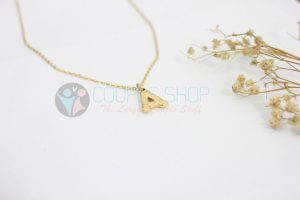 Kalung Single Gold Plated kalung abjad A