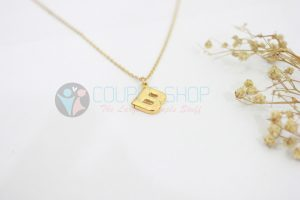 Kalung Single Gold Plated kalung abjad B