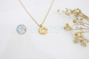 Kalung Single Gold Plated kalung abjad C