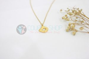 Kalung Single Gold Plated kalung abjad D