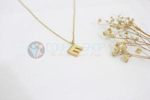 Kalung Single Gold Plated kalung abjad E