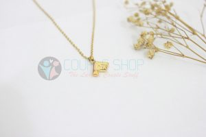 Kalung Single Gold Plated kalung abjad F