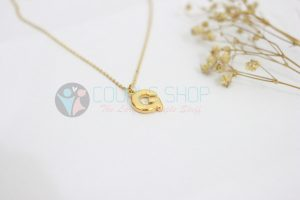 Kalung Single Gold Plated kalung abjad G