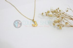 Kalung Single Gold Plated kalung abjad J