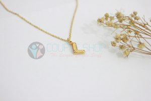 Kalung Single Gold Plated kalung abjad L
